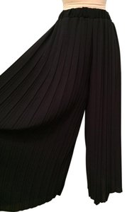Heather Pleated Summer Current Fashion Chic Wide Leg Pants navy