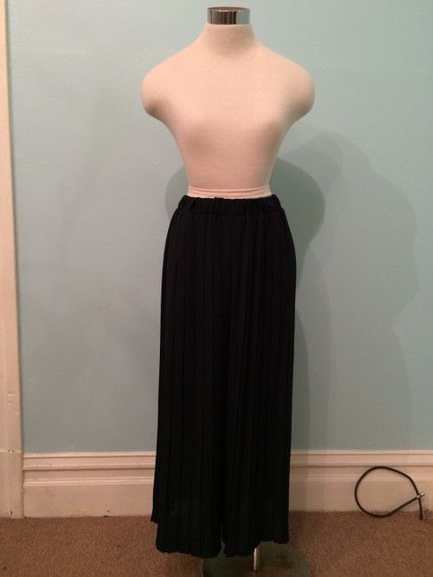 Heather Pleated Summer Current Fashion Chic Wide Leg Pants navy Image 1