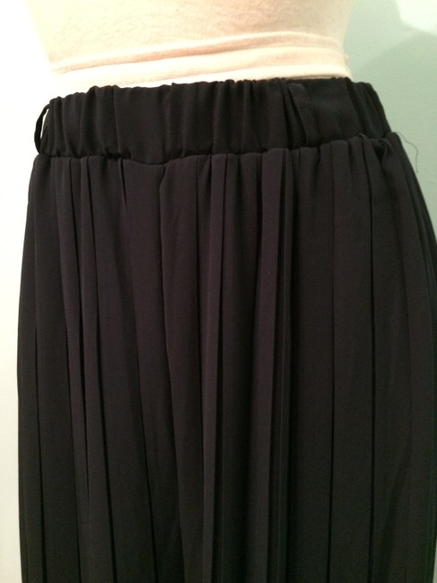 Heather Pleated Summer Current Fashion Chic Wide Leg Pants navy Image 2