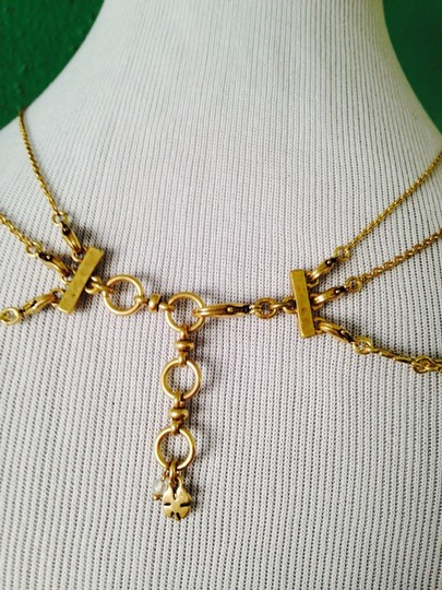 Lucky Brand 4-Ways To Wear, Multi-Color Crystal Gold-Tone Hand Necklace Image 4