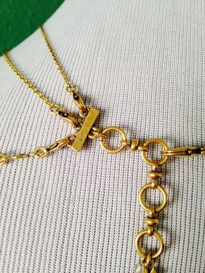 Lucky Brand 4-Ways To Wear, Multi-Color Crystal Gold-Tone Hand Necklace Image 6