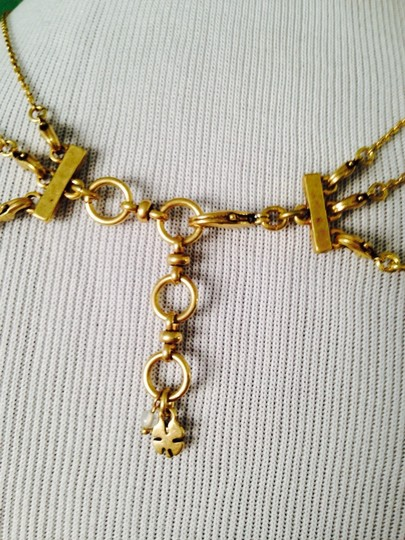 Lucky Brand 4-Ways To Wear, Multi-Color Crystal Gold-Tone Hand Necklace Image 7