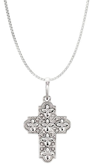 Preload https://img-static.tradesy.com/item/21984845/white-ornate-floral-inspired-religious-good-luck-cross-pendent-925-necklace-0-1-540-540.jpg