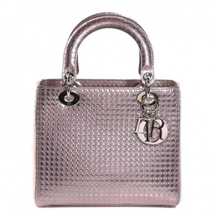 e65e769a018f Dior Tote in Metallic Pink. Dior Lady Dior Rarely Used Perforated ...