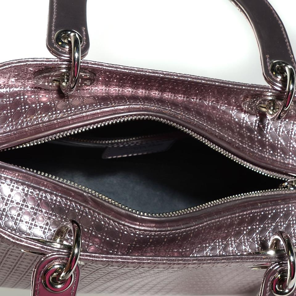 9cb15b23a9ba Dior Lady Dior Rarely Used Perforated Purse W  Shoulder Strap Metallic Pink  Leather Tote - Tradesy