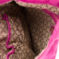 Tory Burch Perforated Suede Fuschia Tote in Rasberry Image 3