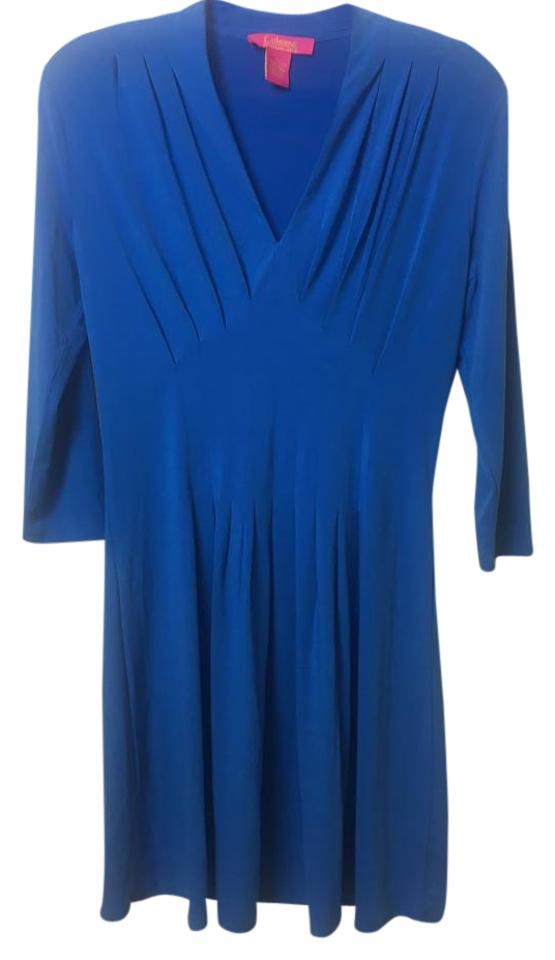 fd03cbde25b2c2 Catherine Malandrino Blue Mid-length Work Office Dress Size 4 (S ...