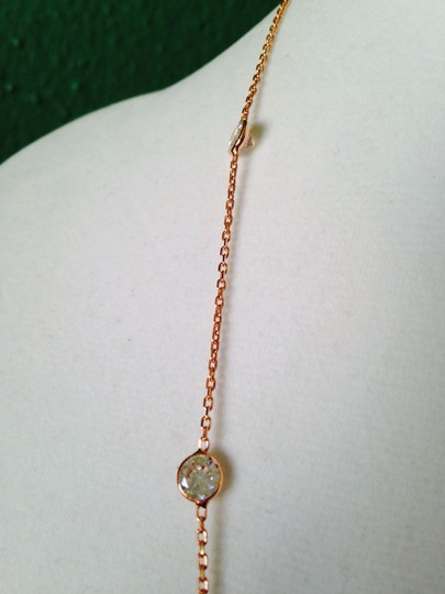Alainn Faceted Bezel Station Rose Gold Over Sterling Silver Necklace Image 3