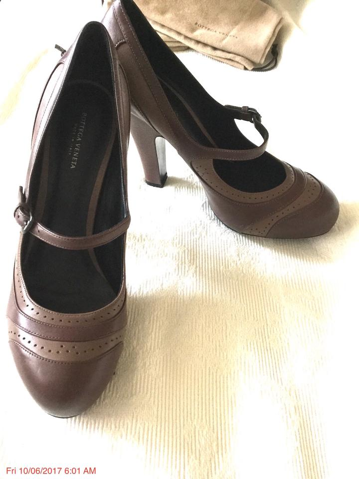 Elephant Bottega Brogue Jane Gray Pumps Truffle amp; Veneta Brown Mary pwOqw7vx6