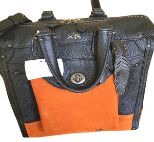 Coach Satchel in Black with saddle