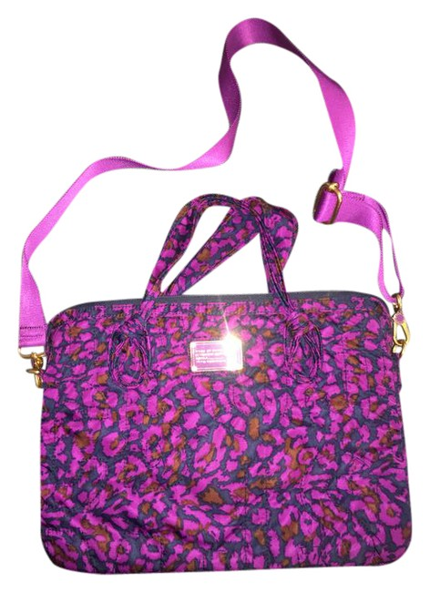 Item - Print Purple Black Multi-color Laptop Bag