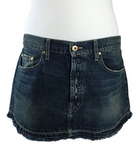 Chip and Pepper Denim Mini Mini Skirt Blue