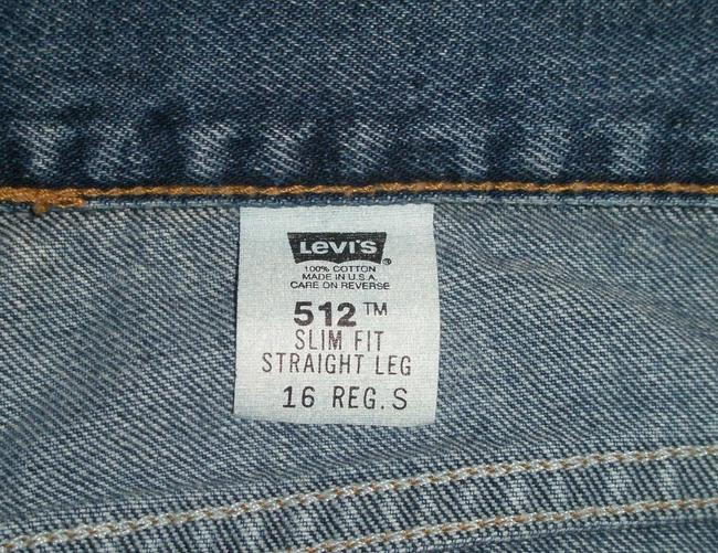 Levi's Classic 5 Pocket Style * Cotton * Machine Washable * Slim Fit * Tapered * High Waist *button Waist Closure * Zip Fly Straight Leg Jeans-Medium Wash