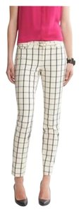 Banana Republic Skinny Pants white with black stripes