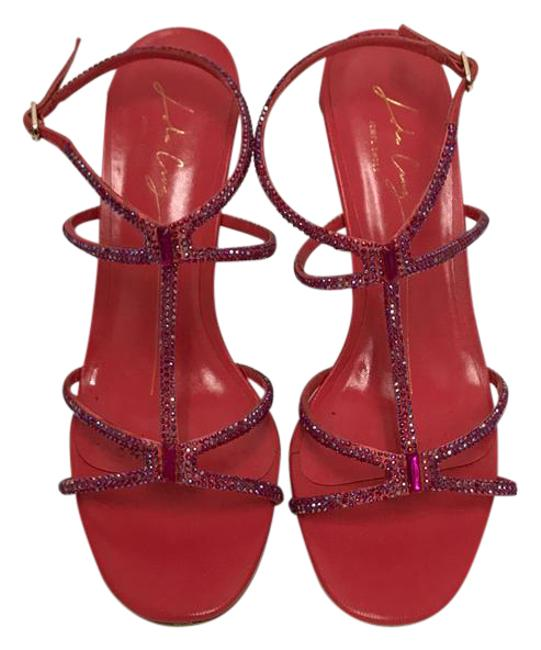 Vero Cuoio Pink Red High Heels Formal Shoes Size US 9 Regular (M, B) Vero Cuoio Pink Red High Heels Formal Shoes Size US 9 Regular (M, B) Image 1
