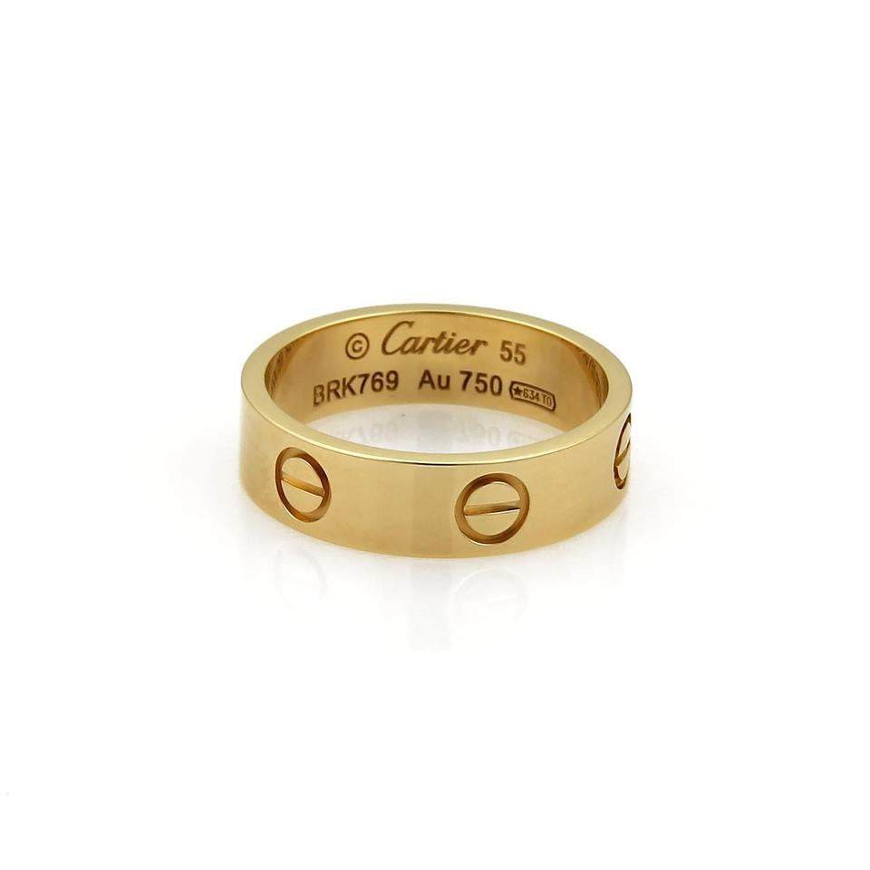 c94eed7996c86 Cartier Yellow Gold Love 18k 5.5mm Wide Band Size Eu 55-us 7 Ring