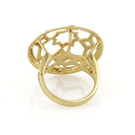 Tiffany & Co. Zellige Collection 18k Yellow Gold Medallion Ring Size 7