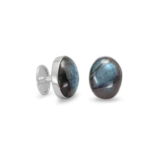 unknown Sterling Silver Labradorite Cuff Links