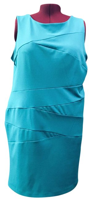 Preload https://img-static.tradesy.com/item/21985668/ronni-nicole-green-teal-blue-sheath-mid-length-cocktail-dress-size-20-plus-1x-0-1-650-650.jpg