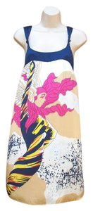 Voom by Joy Han Silk Mini Graphic Dress