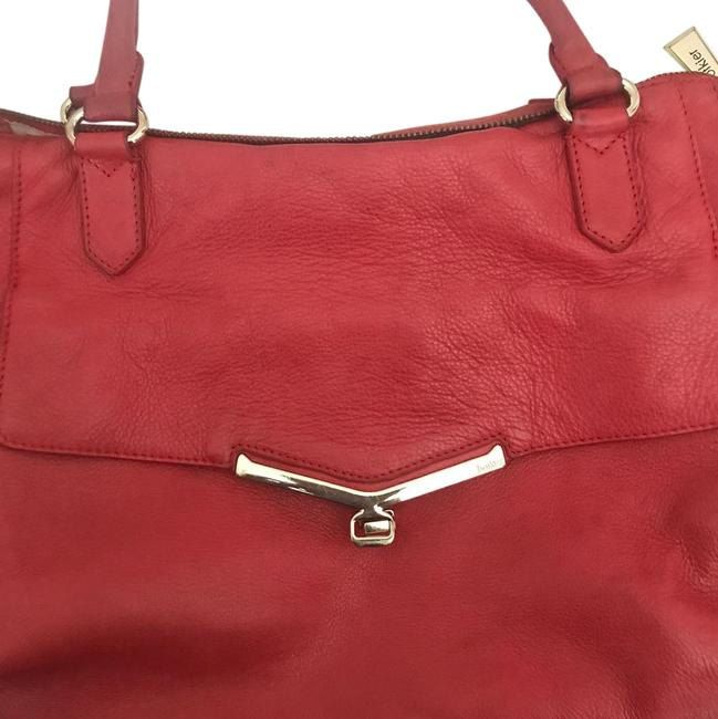 Botkier Valentina Satchel Coral Red Leather Cross Body Bag Botkier Valentina Satchel Coral Red Leather Cross Body Bag Image 1