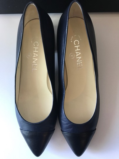Chanel Blue/Black Pumps