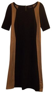 Just Taylor Stretchy Knit Short Sleeve Mid-length Casual Dress