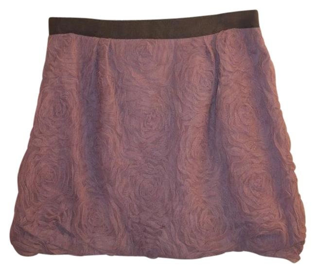 J.Crew Mini Flower Pattern Cute Frilly Mini Skirt lavendar and grey Image 0