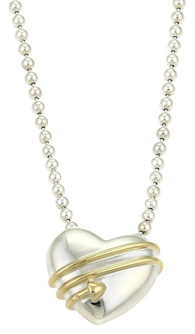 Tiffany & Co. Stering Yellow Gold 1994 18k Cupid's Heart Bead Chain Necklace Tiffany & Co. Stering Yellow Gold 1994 18k Cupid's Heart Bead Chain Necklace Image 1