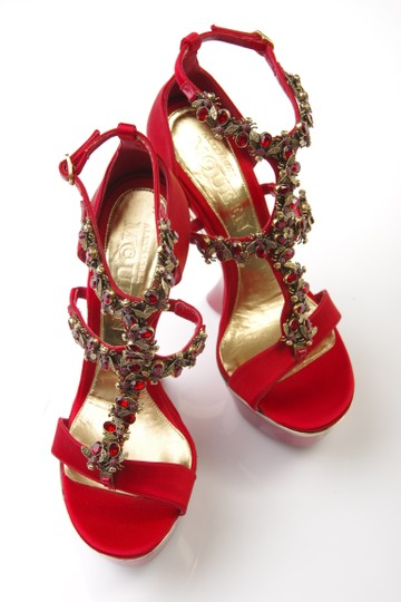 Alexander McQueen Studded red Wedges