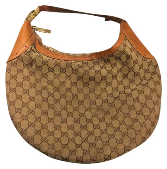 Preload https://img-static.tradesy.com/item/21986325/gucci-signature-g-brown-canvas-hobo-bag-0-1-540-540.jpg