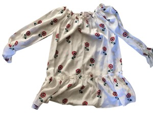 Stone Cold Fox short dress white with red flowers on Tradesy