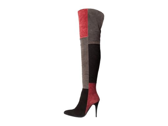 Charles David Suede Over The Knee Grey, Black, Burgundy Boots