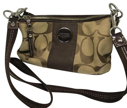 Preload https://img-static.tradesy.com/item/21986616/coach-color-signature-fabric-brown-beige-silver-measurements-11-12l-x-6-34-h-x-2-14-w-like-new-in-ve-0-1-540-540.jpg