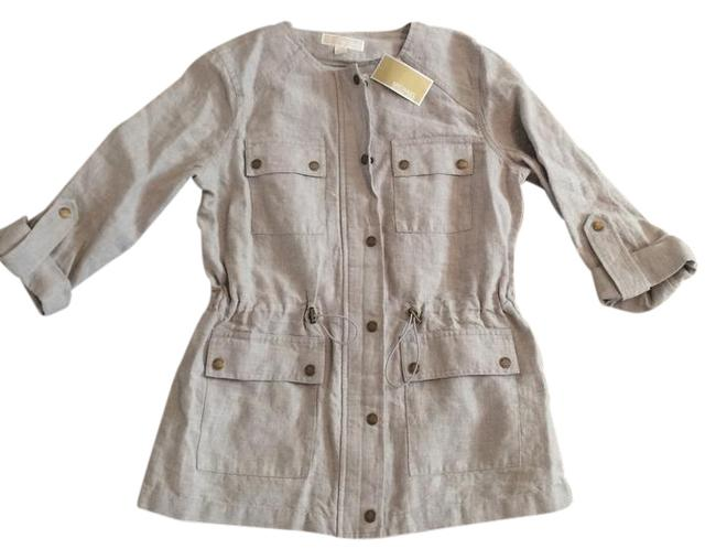 Item - Taupe-cream Casual Jacket Size 10 (M)