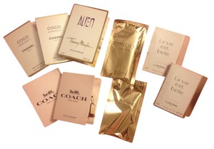 Chanel Coco Chanel, Jimmy Choo Illicit, Coach NY, Alien, Lancome Perfume Samp