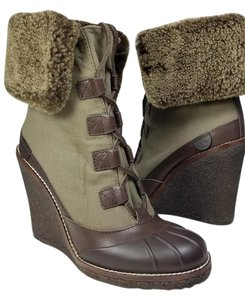 Tory Burch olive/ brown Boots