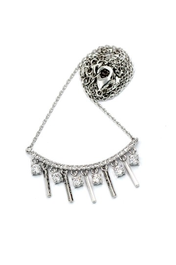 Ocean Fashion Temperament girl crystal clavicle sivler necklace