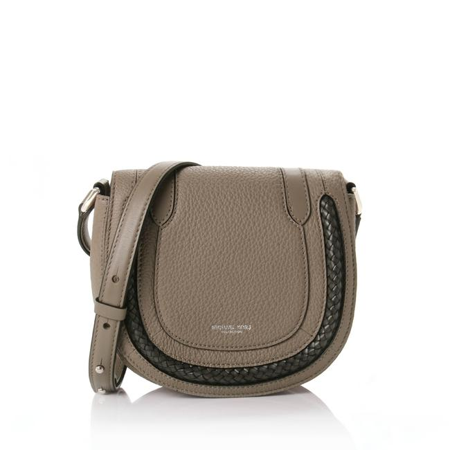 Item - Skorpios Taupe Calfskin Leather Cross Body Bag