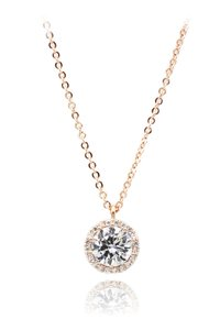Ocean Fashion Flashing crystal rose gold necklace