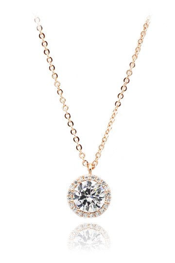 Preload https://img-static.tradesy.com/item/21987085/rose-gold-flashing-crystal-necklace-0-0-540-540.jpg