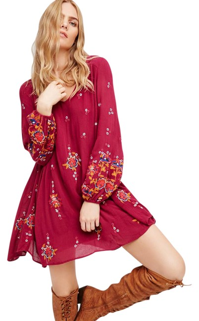 Preload https://img-static.tradesy.com/item/21987089/free-people-plum-oxford-embroidered-short-casual-dress-size-2-xs-0-1-650-650.jpg
