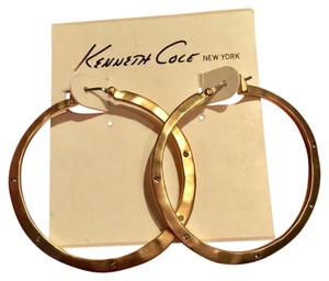 Kenneth Cole Gold-tone hoops w/ crystals