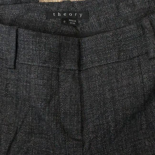 Theory Tweed Suiting Leg Straight Pants Black/White