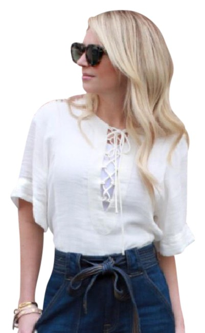 Preload https://img-static.tradesy.com/item/21987137/7-for-all-mankind-off-white-lace-up-front-blouse-size-4-s-0-1-650-650.jpg