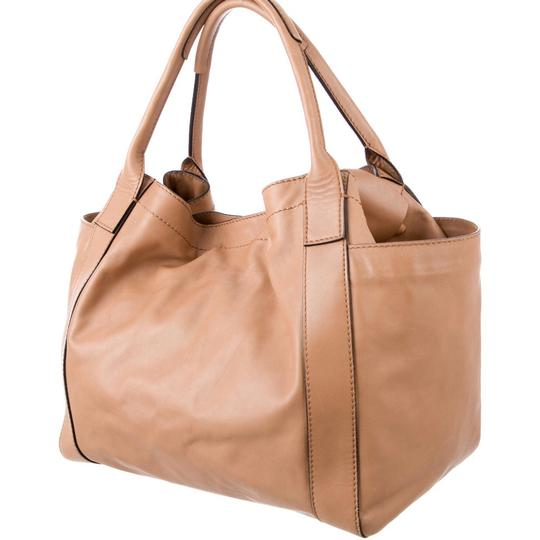 Valentino Nappa Double Pocket Bow Tan Tote in Camel