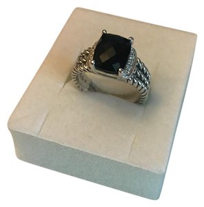 David Yurman david yurman petite Wheaton ring 10x8mm with black onyx and diamonds