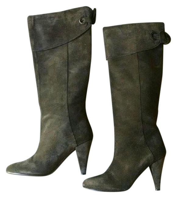 Love Moschino Brown Knee High Bow Back Tall Boots/Booties Size EU 40.5 (Approx. US 10.5) Regular (M, B) Love Moschino Brown Knee High Bow Back Tall Boots/Booties Size EU 40.5 (Approx. US 10.5) Regular (M, B) Image 1