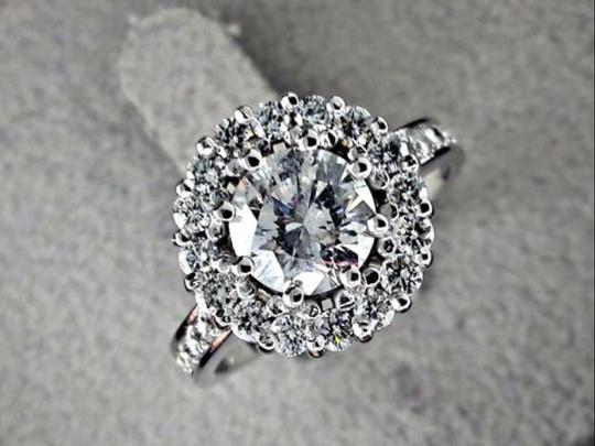 Preload https://img-static.tradesy.com/item/21987522/14k-white-gold-194-ct-round-diamond-halo-in-14-kt-engagement-ring-0-0-540-540.jpg