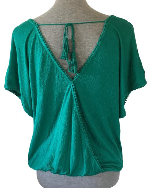 Preload https://img-static.tradesy.com/item/21987562/max-studio-blue-green-faux-wrap-blouse-size-2-xs-0-1-650-650.jpg